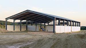 Montovaná zemědělská skladovací hala