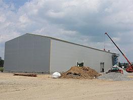 Ocelová skladovací hala Biomac 2 - I 05