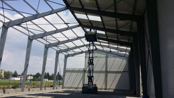Ocelová skladovací hala Biomac 2 - I 08