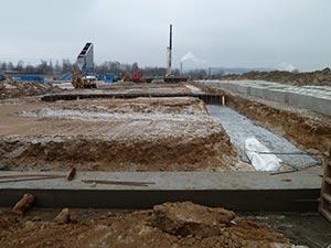 Spodní stavba ocelové haly 02