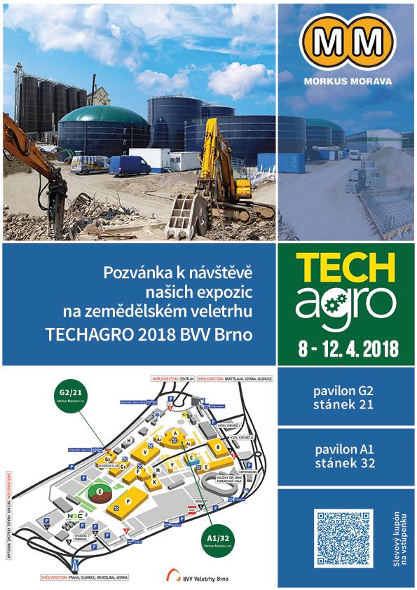 Pozvánka na veletrh Techagro 2018